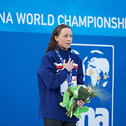 Ariana Kukors, USA, gold meal winner in the 200 IM Final at the World Swimming Championships in Rome on Monday, July 27, 2009. Photo Tim Clayton.