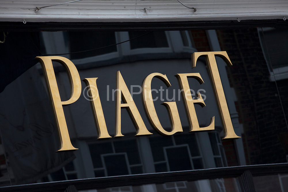 Sign for high end jewellers and exclusive brand Piaget.