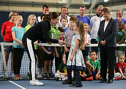 The Duchess of Cambridge visits the Lawn Tennis Association at the The National Tennis Centre in London, UK, on the 31st October 2017. Picture by Daniel Leal-Olivas/WPA-Pool. 31 Oct 2017 Pictured: Catherine, Duchess of Cambridge, Kate Middleton. Photo credit: MEGA TheMegaAgency.com +1 888 505 6342