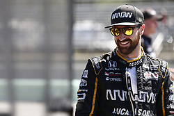 June 23, 2018 - Elkhart Lake, Wisconsin, United States of America - JAMES HINCHCLIFFE (5) of Canada hangs out on pit road prior to taking to the track to practice for the KOHLER Grand Prix at Road America in Elkhart Lake, Wisconsin. (Credit Image: © Justin R. Noe Asp Inc/ASP via ZUMA Wire)