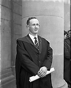 Conferring of Degrees at UCD .30/10/1958 .