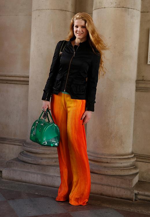 Street fashion on day 3 during London Fashion week AW 2012. 19/02/2012 Johanna Nyholm/CatchlightMedia
