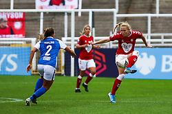 Jemma Purfield of Bristol City Women controls the ball- Mandatory by-line: Will Cooper/JMP - 18/10/2020 - FOOTBALL - Twerton Park - Bath, England - Bristol City Women v Birmingham City Women - Barclays FA Women's Super League