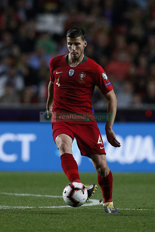 March 22, 2019 - Lisbon, Portugal - Ruben Dias of Portugal in action  during the Euro 2020 qualifying match football match between Portugal vs Ukraine, in Lisbon, on March 22, 2019. (Credit Image: © Carlos Palma/NurPhoto via ZUMA Press)