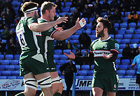 Rugby Union - 2019 / 2020 Gallagher Premiership - London Irish vs. Wasps<br /> <br /> Ben Meehan of London Irish celebrates scoring their first try, at Madejski Stadium.<br /> <br /> COLORSPORT/ANDREW COWIE