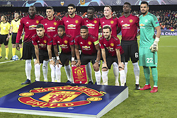 December 12, 2018 - Valencia, Spain - Manchester United fc Team before  UEFA Champions League Group H between Valencia CF and Manchester United at Mestalla stadium  on December 12, 2018. (Photo by Jose Miguel Fernandez/NurPhoto) (Credit Image: © Jose Miguel Fernandez/NurPhoto via ZUMA Press)