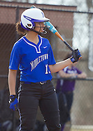 Middletown, New York - A Middletown player get ready to bat during a varsity girls' softball game on April 2, 2014.