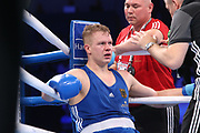 Boxen: AIBA Box-WM, Day 4, Hamburg, 28.08.2017<br /> +91 Kg: Kamshybek Kunkabayev (KAZ, red) - Max Keller (GER, blue)<br /> © Torsten Helmke