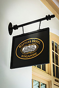 Raffles Hotel sign, Singapore, Republic of Singapore