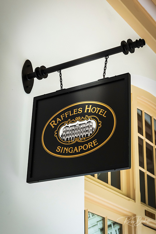 Raffles Hotel sign, Singapore, Republic of Singapore