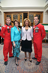 EDWINA CURRIE and LORNA PONTI with members of the Red Devils at 'Lunch for Life' in aid of Marie Curie Cancer Care held at Wentworth Golf Club, Berkshire on 2nd march 2009.