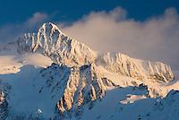 Mount Shuksan in winter, North Cascades Washington USA
