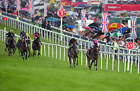 Flat Horse Racing - 2017 Investec Derby Festival - Ladies Day<br /> <br /> Frankie Dettori  on Enable breaks away with a furlong to go to win the 16: 30 Investec Oaks, at Epsom Racecourse.<br /> <br /> COLORSPORT/ANDREW COWIE