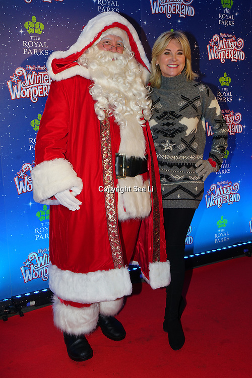 London, England, UK. 16th November 2017. Santa and Anthea Turner attend the VIP launch of Hyde Park Winter Wonderland 2017 for a preview. tomorrow is opening for the public