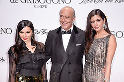 Emily Kazandjian, Fawaz Gruosi and Praya Lundberg attending the de Grisogono party ahead the 70th Cannes Film Festival, at Eden Roc Hotel in Antibes, France on May 23, 2017. Photo Julien Reynaud/APS-Medias/ABACAPRESS.COM