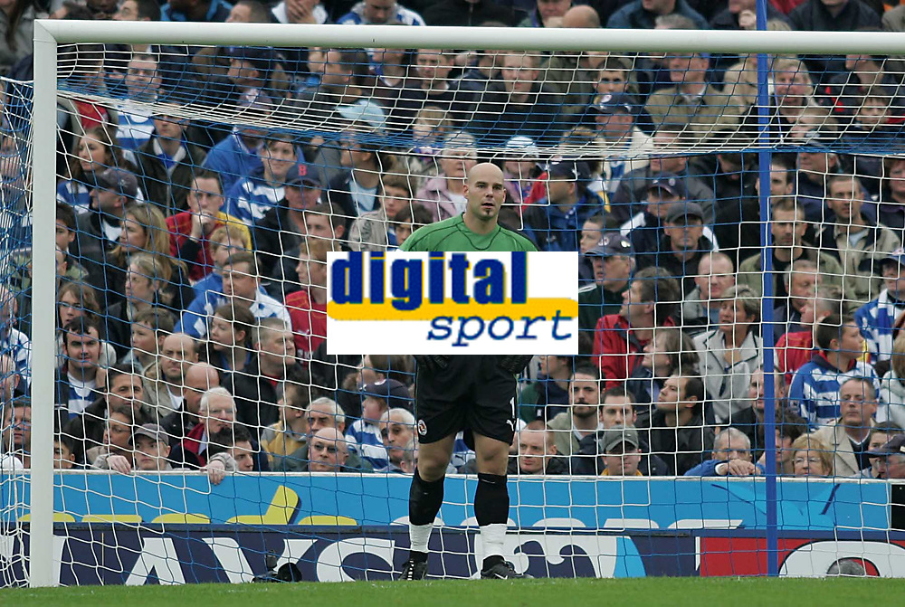 Photo: Lee Earle.<br /> Portsmouth v Reading. The Barclays Premiership. 28/10/2006. Reading keeper Marcus Hahnemann looks dejected after the first goal.