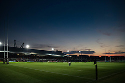 A general view of Rodney Parade, home of Dragons<br /> <br /> Photographer Simon King/Replay Images<br /> <br /> 1 Round 1 - Dragons v Benetton Treviso - Saturday 1st September 2018 - Rodney Parade - Newport<br /> <br /> World Copyright © Replay Images . All rights reserved. info@replayimages.co.uk - http://replayimages.co.uk