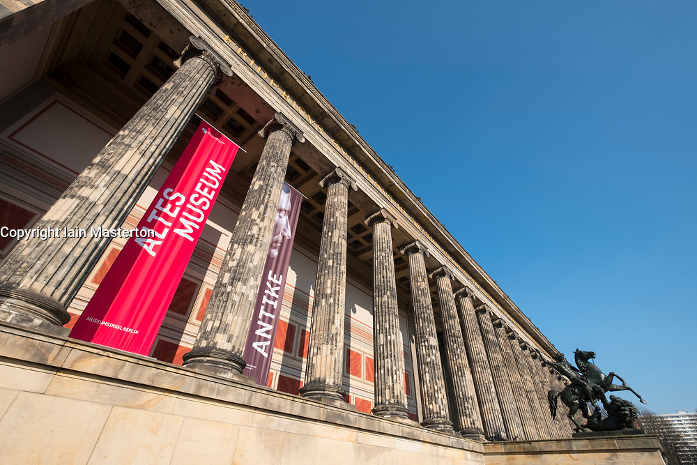 exterior view of Altes Museum on Museum Island, Museumsinsel , in Mitte, Berlin, Germany