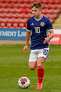 Kai Kennedy (Rangers FC) during the U17 European Championships match between Scotland and Poland at Firhill Stadium, Maryhill, Scotland on 26 March 2019.
