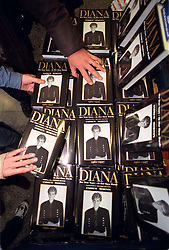 The first copies of Andrew Morton's re-issued book on Diana, Princess of Wales: Diana: Her True Story, hits the shelves in Dillons Book Store in London today (Friday).
