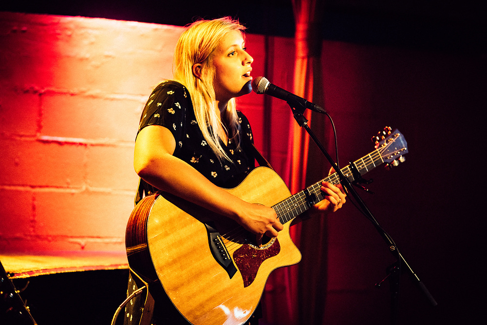 NEW YORK, NY/US - JULY 20, 2018: Andrea von Kampen performs onstage at Rockwood Music Hall in the East Village.