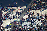 Empty seats in the stands during the 1st half. EFL Cup, 3rd round match, West Ham Utd v Accrington Stanley at the London Stadium, Queen Elizabeth Olympic Park in London on Wednesday 21st September 2016.<br /> pic by John Patrick Fletcher, Andrew Orchard sports photography.