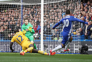 Chelsea's Eden Hazard sees his shot saved by Crystal Palace's Wayne Hennesey during the Premier League match at the Stamford Bridge Stadium, London. Picture date: April 1st, 2017. Pic credit should read: David Klein/Sportimage via PA Images