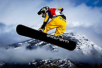 Sauze díOulx , Italy -- Snowboard Cross at the 2006 Torino Winter Olympics. -- -- Photo by Jack Gruber, USA TODAY