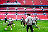 Photo: Alan Crowhurst.<br />England training session at Wembley Stadium. 21/03/2007. Coach Steve McClaren (L) watches as training begins.