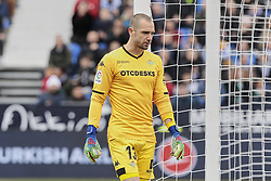 February 10, 2019 - Madrid, Madrid, Spain - Real Betis Balompie's Pau Lopez during La Liga match between CD Leganes and Real Betis Balompie at Butarque Stadium in Madrid, Spain. February 10, 2019. (Credit Image: © A. Ware/NurPhoto via ZUMA Press)