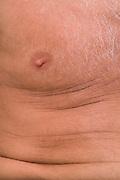 close up of an elderly man's chest