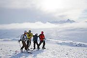 Friends enjoying the Big Wild Life of Thompson Pass, Alaska.