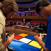 Rubik's Cube World Championship held in Hungary to honor the inventor Erno Rubik. Budapest, Hungary. Saturday, 06. October 2007. ATTILA VOLGYI