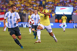 September 11, 2018 - East Rutherford, NJ, U.S. - EAST RUTHERFORD, NJ - SEPTEMBER 11:  Colombia forward Luis Muriel (14) during the first half of the International Friendly Soccer game between Argentina and Colombia on September 11, 2018 at MetLife Stadium in East Rutherford, NJ.   (Photo by Rich Graessle/Icon Sportswire) (Credit Image: © Rich Graessle/Icon SMI via ZUMA Press)