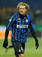 """Diego FORLAN (Inter)<br /> Milano 21/12/2011 Stadio """"Giuseppe Meazza""""<br /> Serie A 2011/2012<br /> Football Calcio Inter Vs Lecce<br /> Foto Insidefoto Alessandro Sabattini"""