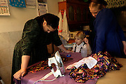 The Rempels, like the rest of the mennonites, make their own clothes for the most part.