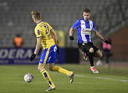 December 9, 2017 - Brussels, BELGIUM - Union's Kennet Houdret and Lierse's Megan Laurent fight for the ball during a soccer game between Royal Union Saint-Gilloise and Lierse SK, in Brussels, Saturday 09 December 2017, on day 19 of the division 1B Proximus League competition of the Belgian soccer championship. BELGA PHOTO JOHN THYS (Credit Image: © John Thys/Belga via ZUMA Press)