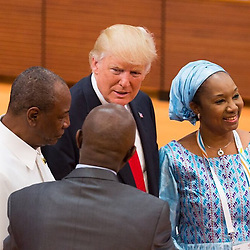 """Donald Trump releases a photo on Instagram with the following caption: """"President Trump attends Partnership with Africa, Migration, and Health Session. #G20Summit #USA"""". Photo Credit: Instagram *** No USA Distribution *** For Editorial Use Only *** Not to be Published in Books or Photo Books ***  Please note: Fees charged by the agency are for the agency's services only, and do not, nor are they intended to, convey to the user any ownership of Copyright or License in the material. The agency does not claim any ownership including but not limited to Copyright or License in the attached material. By publishing this material you expressly agree to indemnify and to hold the agency and its directors, shareholders and employees harmless from any loss, claims, damages, demands, expenses (including legal fees), or any causes of action or allegation against the agency arising out of or connected in any way with publication of the material."""