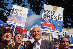 September 9, 2017 - London, United Kingdom - Vince Cable MP, The leader of the Liberal democrat party, joins the start of the march  in London, England, on September 9, 2017. (Credit Image: © Jay Shaw Baker/NurPhoto via ZUMA Press)