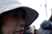 close up female face Japan