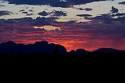 The Olgas, Kata Tjuta, at sunset, Red Centre, Northern Territory, Australia