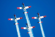 Israeli Air force Flight Academy Beechcraft T-6A Texan II aerobatics team