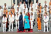 Koninklijk Paar ontvangt medaillewinnaars Olympische Zomerspelen