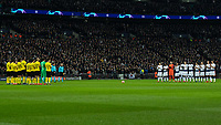 Football - 2018 / 2019 UEFA Champions League - Round of Sixteen, First Leg: Tottenham Hotspur vs. Borussia Dortmund<br /> <br /> Both teams observe a minutes silence for players Emiliano Sala and Gordon Banks ahead of kick off at Wembley Stadium.<br /> <br /> COLORSPORT/DANIEL BEARHAM