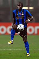 Fotball<br /> Italia<br /> Foto: Inside/Digitalsport<br /> NORWAY ONLY<br /> <br /> Sulley Muntari (Inter)<br /> <br /> 01.10.2008<br /> UEFA Champions League 2008/2009<br /> Inter v Werder Bremen (1-1)