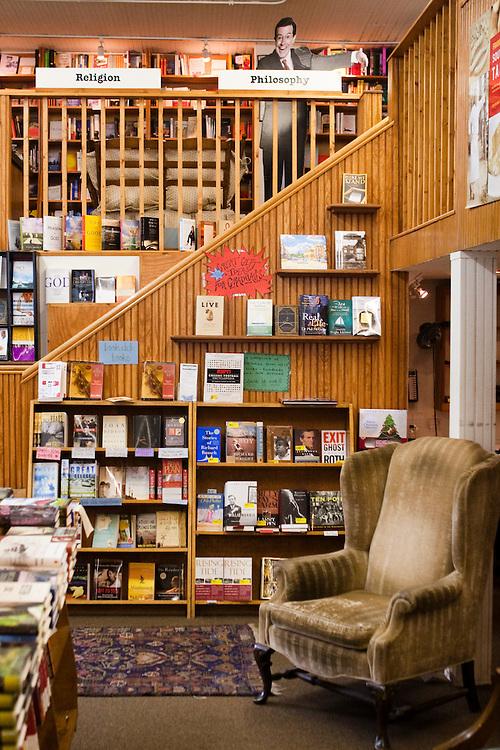Interior of Square Books, Oxford Mississippi.