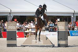 Lejeune Philippe (BEL) - Once De Kreisker<br /> Grand Prix de L'Hippodrome De Wallonie-Mons<br /> CSI4* Mons 2013<br /> © Hippo Foto - Counet Julien