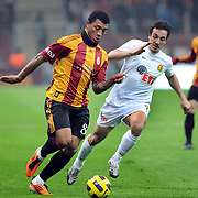 Galatasaray's Colin Kazim RICHARDS (L) during their Turkish Super League soccer match Galatasaray between Eskisehirspor at the Turk Telekom Arena at Seyrantepe in Istanbul Turkey on Sunday, 06 February 2011. Photo by TURKPIX