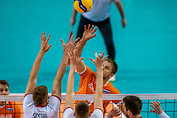 Thijs Ter Horst of Netherlands in action during the CEV Eurovolley 2021 Qualifiers between Croatia and Netherlands at Topsporthall Omnisport on May 16, 2021 in Apeldoorn, Netherlands