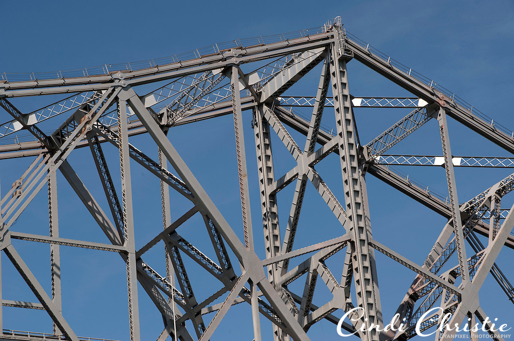 The original eastern span of the San Francisco-Oakland Bay Bridge looks like a giant Erector set on Saturday, Sept. 17, 2011, in the San Francisco Bay.  The original eastern span was damaged in the 1989 Loma Prieta earthquake. A new self-anchored suspension span is expected to open in 2013. (© 2011 Cindi Christie/Cyanpixel Photography)